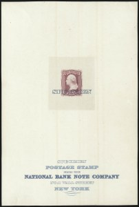"Sale Number 1082, Lot Number 61, Essays and Proofs: 1861-66 Issue3c Rose Lake, Large Die Trial Color Proof on India, ""Specimen"" Ovpt. (65TC1 var), 3c Rose Lake, Large Die Trial Color Proof on India, ""Specimen"" Ovpt. (65TC1 var)"