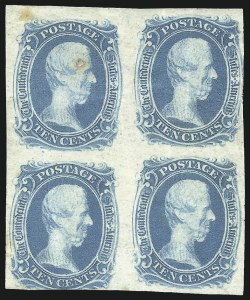 "Sale Number 1082, Lot Number 610, Confederate States: Essays and Proofs, General Issues10c Blue, ""TEN"" (9), 10c Blue, ""TEN"" (9)"