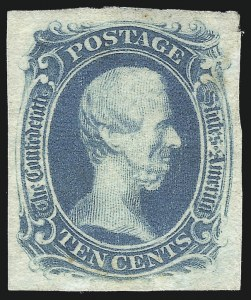 "Sale Number 1082, Lot Number 611, Confederate States: Essays and Proofs, General Issues10c Blue, ""TEN"" (9), 10c Blue, ""TEN"" (9)"
