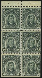 Sale Number 1082, Lot Number 668, United States Possessions: PhilippinesPHILIPPINES, 1906, 2c Deep Green, Booklet Pane of Six (241b), PHILIPPINES, 1906, 2c Deep Green, Booklet Pane of Six (241b)