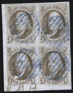 Sale Number 1084, Lot Number 3002, 5c-10c 1847 Issue Stamps (Scott 1-2)5c Red Brown (1), 5c Red Brown (1)