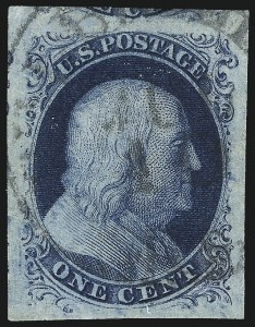 Sale Number 1084, Lot Number 3046, 1c 1851-56 Issue (Scott 5-9)1c Blue, Ty. IIIa (8A), 1c Blue, Ty. IIIa (8A)