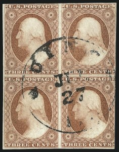 Sale Number 1084, Lot Number 3053, 3c-12c 1851-56 Issue (Scott 10-17)3c Dull Red, Ty. II (11A), 3c Dull Red, Ty. II (11A)