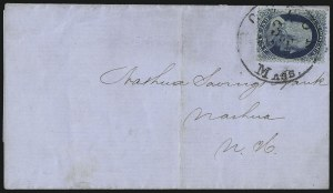Sale Number 1084, Lot Number 3100, 1c 1857-60 Issue (Scott 18-24)1c Blue, Ty. II (20), 1c Blue, Ty. II (20)