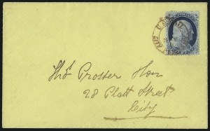 Sale Number 1084, Lot Number 3111, 1c 1857-60 Issue (Scott 18-24)1c Blue, Ty. IV (23), 1c Blue, Ty. IV (23)