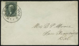 Sale Number 1084, Lot Number 3161, 10c-90c 1857-60 Issue (Scott 31-39)10c Green, Ty. IV (34), 10c Green, Ty. IV (34)