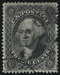 Sale Number 1084, Lot Number 3170, 10c-90c 1857-60 Issue (Scott 31-39)12c Black, Plate 3 (36b), 12c Black, Plate 3 (36b)