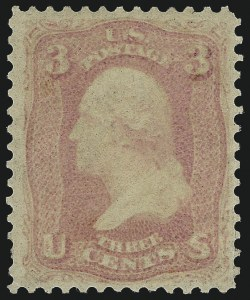 Sale Number 1084, Lot Number 3186, 1861-66 Issue (Scott 56-69)3c Pink (64), 3c Pink (64)