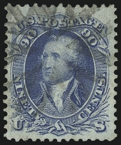 Sale Number 1084, Lot Number 3216, 1861-66 Issue, cont. (Scott 70-78)90c Blue (72), 90c Blue (72)