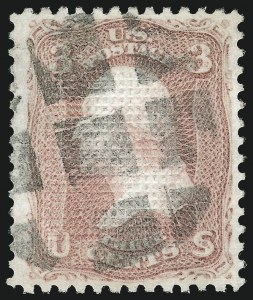 Sale Number 1084, Lot Number 3238, 1867-68 Grilled Issue (Scott 79-91)3c Rose, C. Grill (83), 3c Rose, C. Grill (83)