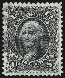 Sale Number 1084, Lot Number 3265, 1867-68 Grilled Issue (Scott 79-91)12c Black, E. Grill (90), 12c Black, E. Grill (90)