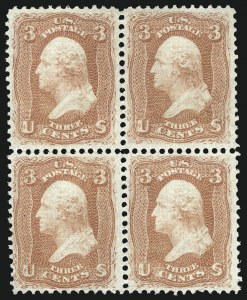 Sale Number 1084, Lot Number 3273, 1867-68 Grilled Issue, cont. (Scott 92-101)3c Red, F. Grill (94), 3c Red, F. Grill (94)