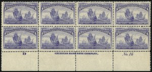 Sale Number 1084, Lot Number 3530, 1893 Columbian Issue (Scott 230-245)4c Columbian (233), 4c Columbian (233)