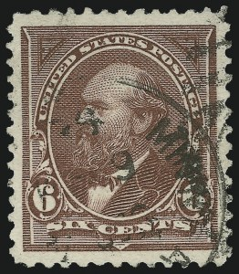 Sale Number 1084, Lot Number 3573, 1894 Unwatermarked Bureau Issue (Scott 246-263)6c Dull Brown (256), 6c Dull Brown (256)