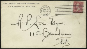 Sale Number 1084, Lot Number 3591, 1895 Watermarked Bureau Issue (Scott 264-278)2c Carmine, Ty. I (265), 2c Carmine, Ty. I (265)