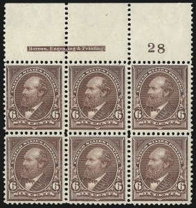 Sale Number 1084, Lot Number 3602, 1895 Watermarked Bureau Issue (Scott 264-278)6c Dull Brown (271), 6c Dull Brown (271)