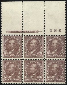 Sale Number 1084, Lot Number 3603, 1895 Watermarked Bureau Issue (Scott 264-278)6c Dull Brown (271), 6c Dull Brown (271)