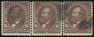 Sale Number 1084, Lot Number 3606, 1895 Watermarked Bureau Issue (Scott 264-278)6c Dull Brown, USIR Watermark (271a), 6c Dull Brown, USIR Watermark (271a)