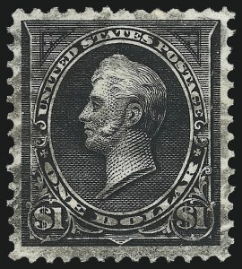Sale Number 1084, Lot Number 3626, 1895 Watermarked Bureau Issue (Scott 264-278)$1.00 Black, Ty. II (276A), $1.00 Black, Ty. II (276A)