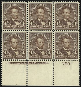 Sale Number 1084, Lot Number 3646, 1897-1903 Change of Colors Bureau Issue (Scott 279-284)4c Lilac Brown (280a), 4c Lilac Brown (280a)