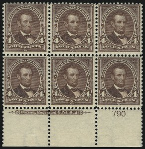 Sale Number 1084, Lot Number 3647, 1897-1903 Change of Colors Bureau Issue (Scott 279-284)4c Lilac Brown (280a), 4c Lilac Brown (280a)