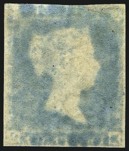 "Sale Number 1086, Lot Number 2006, Great BritainGREAT BRITAIN, 1841, 2p Deep Full Blue, ""Ivory Head"" (4e var; SG 15c), GREAT BRITAIN, 1841, 2p Deep Full Blue, ""Ivory Head"" (4e var; SG 15c)"