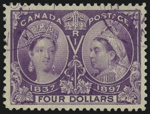 Sale Number 1086, Lot Number 2118, Canada (Continued...)CANADA, 1897, $4.00 Jubilee (64), CANADA, 1897, $4.00 Jubilee (64)
