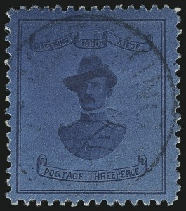Sale Number 1086, Lot Number 2138, Cape of Good Hope thru Cayman IslandsCAPE OF GOOD HOPE, Mafeking, 1900, 3p Blue on Blue, Baden-Powell (180; SG 21), CAPE OF GOOD HOPE, Mafeking, 1900, 3p Blue on Blue, Baden-Powell (180; SG 21)