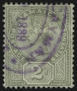 Sale Number 1086, Lot Number 2140, Cape of Good Hope thru Cayman IslandsCAYMAN ISLANDS, Jamaica, 1889, 2p Green (A4; SG Z3), CAYMAN ISLANDS, Jamaica, 1889, 2p Green (A4; SG Z3)