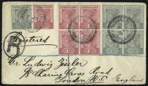 Sale Number 1086, Lot Number 2142, Cape of Good Hope thru Cayman IslandsCAYMAN ISLANDS, 1900, -1/2p Pale Green and 1p Carmine Rose (1-2; SG 1a, 2), CAYMAN ISLANDS, 1900, -1/2p Pale Green and 1p Carmine Rose (1-2; SG 1a, 2)