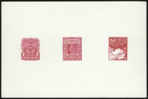 Sale Number 1086, Lot Number 2244, New South WalesNEW SOUTH WALES, 1897 1p-2-1/2p Red Composite Die Trial Color Proof (98P-100P; SG 288P-295P), NEW SOUTH WALES, 1897 1p-2-1/2p Red Composite Die Trial Color Proof (98P-100P; SG 288P-295P)