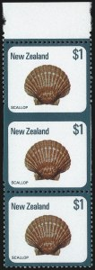 Sale Number 1086, Lot Number 2251, New Zealand thru Northern RhodesiaNEW ZEALAND, 1979, $1.00 Scallop, Vertical Pair, Imperforate Between (696 var; SG 1103a), NEW ZEALAND, 1979, $1.00 Scallop, Vertical Pair, Imperforate Between (696 var; SG 1103a)