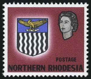 Sale Number 1086, Lot Number 2257, New Zealand thru Northern RhodesiaNORTHERN RHODESIA, 1963, 5sh Dark Carmine Rose & Black, Value Omitted (86a; SG 86a), NORTHERN RHODESIA, 1963, 5sh Dark Carmine Rose & Black, Value Omitted (86a; SG 86a)