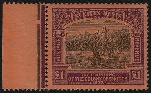 Sale Number 1086, Lot Number 2336, St. Helena thru Sierra LeoneST. KITTS-NEVIS, 1923, -1/2p-£1 Tercentenary (52-64; SG 48-60), ST. KITTS-NEVIS, 1923, -1/2p-£1 Tercentenary (52-64; SG 48-60)