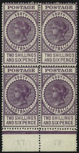 Sale Number 1086, Lot Number 2348, Singapore thru TasmaniaSOUTH AUSTRALIA, 1909, 2sh6p Purple, Perf 12-1/2 (156; 304ab), SOUTH AUSTRALIA, 1909, 2sh6p Purple, Perf 12-1/2 (156; 304ab)