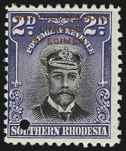 Sale Number 1086, Lot Number 2349, Singapore thru TasmaniaSOUTHERN RHODESIA, 1924-47, Waterlow & Sons Specimens (1 var/66 var), SOUTHERN RHODESIA, 1924-47, Waterlow & Sons Specimens (1 var/66 var)