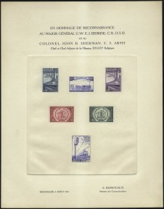 Sale Number 1086, Lot Number 2397, Belgium thru BulgariaBELGIUM, 1945, Railway Deluxe Proof Sheet (COB LX7, TRBL4), BELGIUM, 1945, Railway Deluxe Proof Sheet (COB LX7, TRBL4)