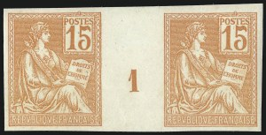 Sale Number 1086, Lot Number 2604, France featuring the Donald L. Feldman Collection (Continued...)FRANCE, 1900, 15c Orange, Imperforate (117a; Yvert 125b; Maury 117a), FRANCE, 1900, 15c Orange, Imperforate (117a; Yvert 125b; Maury 117a)
