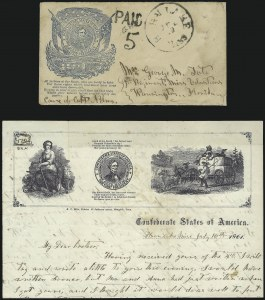 Sale Number 1087, Lot Number 118, Confederate Patriotics: Early Designs thru LeadersHorn Lake Miss. Jul. 16 (1861), Horn Lake Miss. Jul. 16 (1861)