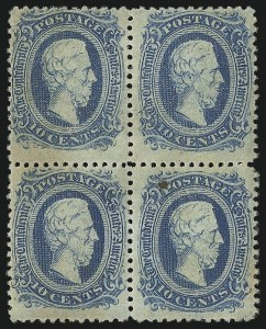 Sale Number 1087, Lot Number 257, General Issues Off Cover10c Blue, Die A, Perforated (11e), 10c Blue, Die A, Perforated (11e)