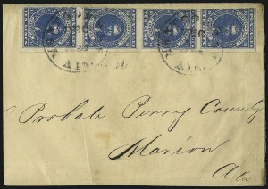 Sale Number 1087, Lot Number 292, General Issues On Cover: Scott 1-210c Dark Blue, Paterson (2b), 10c Dark Blue, Paterson (2b)