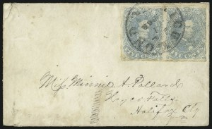 Sale Number 1087, Lot Number 328, General Issues On Cover: Scott 3-45c Light Milky Blue, Stone 3 (4b), 5c Light Milky Blue, Stone 3 (4b)