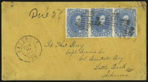 Sale Number 1087, Lot Number 329, General Issues On Cover: Scott 3-45c Milky Blue, Stone 3 (4b), 5c Milky Blue, Stone 3 (4b)