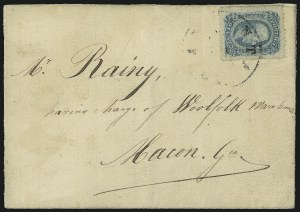 Sale Number 1087, Lot Number 383, General Issues On Cover: Scott 9-1310c Blue, Die B, Perforated (12f), 10c Blue, Die B, Perforated (12f)