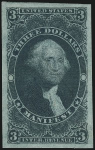 Sale Number 1089, Lot Number 250, First Issue Imperforate, $2.00-$200.00$3.00 Manifest, Imperforate (R86a), $3.00 Manifest, Imperforate (R86a)