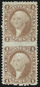 Sale Number 1089, Lot Number 300, First Issue Perforated1c Express, Perforated, Imperforate Between (R1e), 1c Express, Perforated, Imperforate Between (R1e)