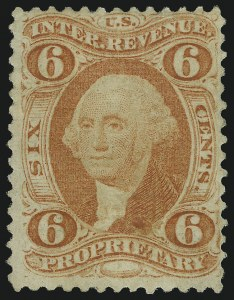 Sale Number 1089, Lot Number 304, First Issue Perforated6c Proprietary, Perforated (R31c), 6c Proprietary, Perforated (R31c)