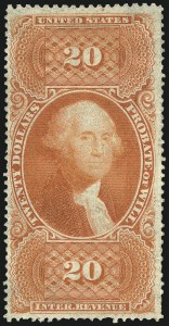 Sale Number 1089, Lot Number 310, First Issue Perforated$20.00 Probate of Will, Perforated (R99c), $20.00 Probate of Will, Perforated (R99c)