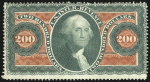 Sale Number 1089, Lot Number 315, First Issue Perforated$200.00 U.S.I.R., Perforated (R102c), $200.00 U.S.I.R., Perforated (R102c)
