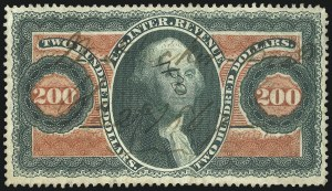 Sale Number 1089, Lot Number 316, First Issue Perforated$200.00 U.S.I.R., Perforated (R102c), $200.00 U.S.I.R., Perforated (R102c)
